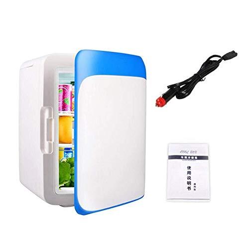 LaLa POP Buena 10L Mini Refrigerador del Refrigerador Mini Coche Enfriador Congelador Calentador Eléctrico Nevera Portátil Nevera Nevera Viaje (Color : Blue)