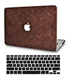 LuvCase 2 in 1 Laptop Case for MacBook Pro 13' (2020/2019/2018/2017/2016) w/wo Touch Bar A2159/A1989/A1706/A1708 Leather Hard Shell Cover & Keyboard Cover (Brown Cow Leather)