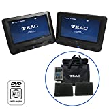 "TEAC Dual Universal Car Headrest Monitors | 9 "" Adjustable Car Mount Multimedia"