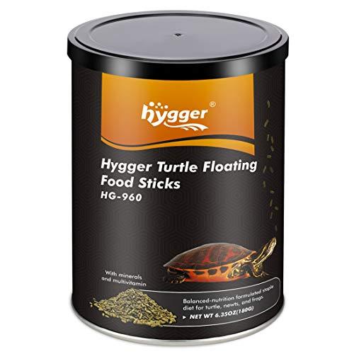 hygger Aquarium Aquatic Turtle Food Floating Green Sticks, 6.35 oz