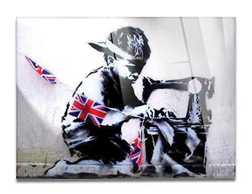 Giallobus - Schilderij - Klaar om op te hangen - Afdrukken op Acrylglas Plexiglas - Banksy - Kinderarbeid - moderne schilderijen home design meubels - slaapkamer - diverse maten XXL - 140x100 cm