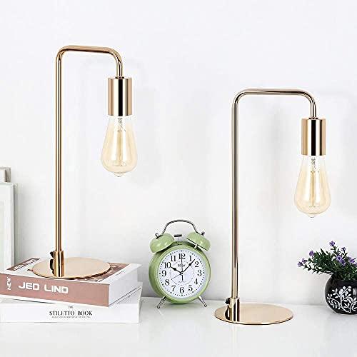 Lot de 2 lampes de bureau style industriel - lampes de chevet modernes, pour chambre à coucher, bureau