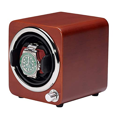SGSG Enrolladores de Reloj Mini Agitador de Reloj Individual Caja de Almacenamiento de Reloj de Color Caja de bobinado de Reloj mecánico automático Enrollador de Reloj de Doble Potencia Dispositi