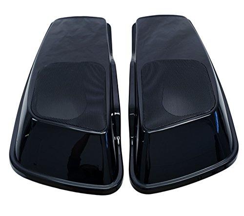 Mutazu 6x9 Vivid Black Speaker Lids for 2014 up Harley Touring Models (SP-L-004)