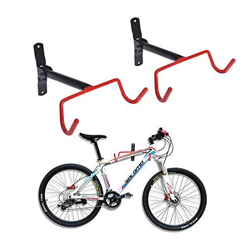 Auwey 2pcs Bike Wall Mount Hanger Bike Indoor Storage Rack, Foldable Bicycle Hook for Garage Bicycle...