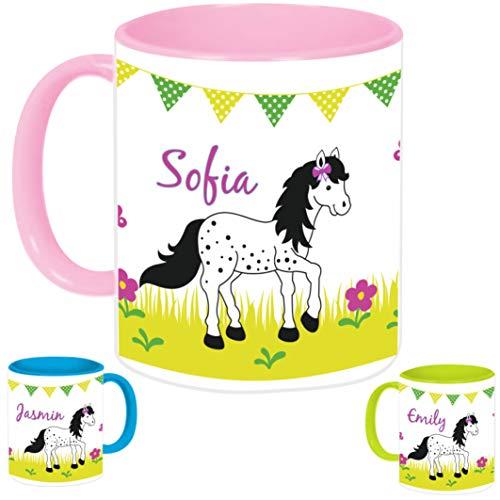 MissRompy Pony (840) KinderTasse mit Name Tasse Namentasse Becher Kinderbecher