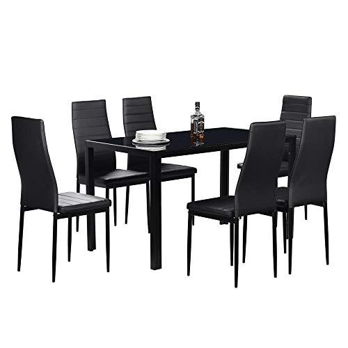 Mesa de comedor negra