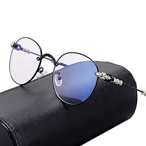 Anti-blauwe lichtbril, Retro Flat Light Anti-straling Anti-UV kan worden uitgerust Anti-blauwe lichtstralingsbescherming met Myopia face-Lift Decoratieve Spiegel Man size 1 exemplaar