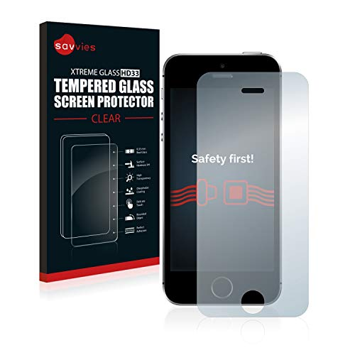 savvies Pellicola Vetro Temperato Compatibile con Apple iPhone SE 2016 Protezione Protettivo Schermo Glass Durezza 9H