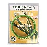 Ambientair Pulsera antimosquitos, 1 Pieza. 330 Horas de duración. Repelente Natural de citronela. Protección contra Insectos para Adultos y niños.