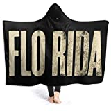 MHOLEBUKL Flo <span class='highlight'>Rida</span> Logo Teen Adult Throw Hooded Thick Travel Beach Oversized Cloak Cape Blankets Throw With Hood For Men Womens Kids
