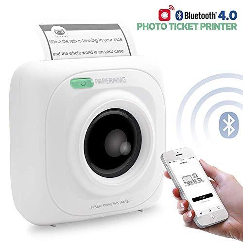 Impresora Mini Wireless De Fotos, Portátil Instantánea Bluetooth Para Impresora Móvil Para El Teléfono Ipad Mac Dispositivos Android De Forma Remota Control De Impresión