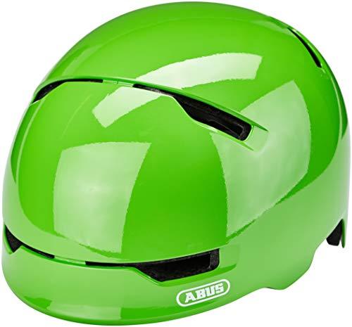 ABUS Scraper 3.0 Kid Kinderhelm - Robuster Fahrradhelm für Kinder - mit Rücklicht für den Stadtverkehr - für Jungs und Mädchen - 81753 - Grün Glänzend, Größe S