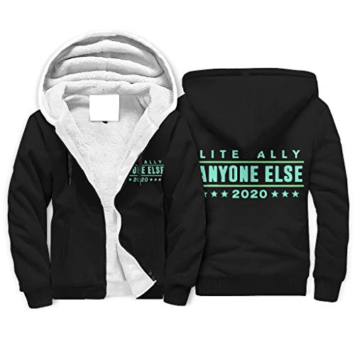 Zhcon Fleece Hoodies Literally Anyone Else 2020 Pillow Mens Novedad Moda Bolsillos Sudadera Patrón Blanco 2xl