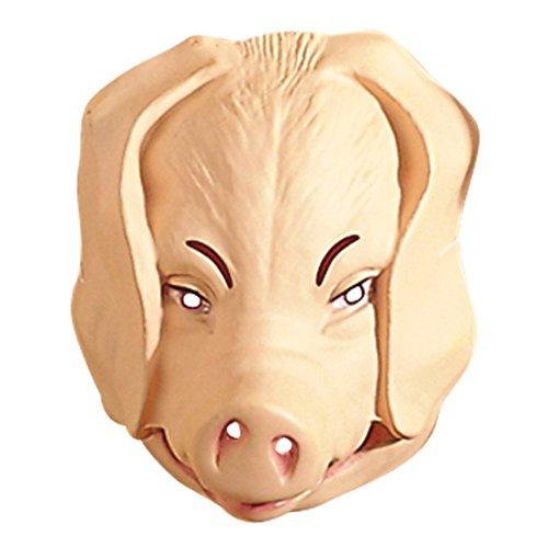 NET TOYS Schweinemaske Schweine Maske hautfarbend Schweinsmaske Schwein Maske Tiermaske Kostüm Zubehör