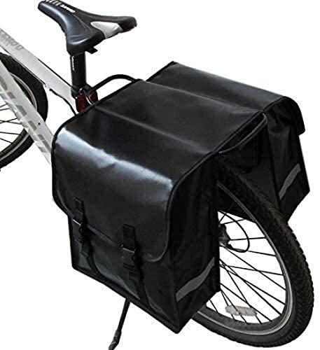 Bolsas de Almacenamiento de Bicicletas, Bolsa de Doble Volumen para Montar, Paquete de Marco Trasero a Granel, Bolsas de Equipaje de Bicicleta de contrapunto de Ajuste Universal, Bolsa de Cuero
