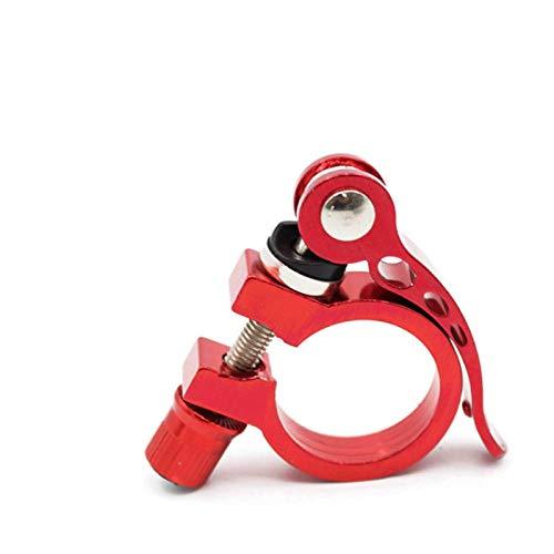 XINTUON Tija de sillín de bicicleta Clip de tubo de asiento de bicicleta Clip de aleación de aluminio ultraligero poste de liberación abrazadera rojo