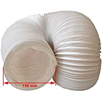 Daniplus - Tubo de salida de aire (PVC, flexible, 150 mm de diámetro, 6 m, para aire acondicionado, secadora, campana)