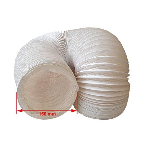 daniplus Abluftschlauch PVC flexibel Ø 150 mm, 6 m z.B. für Klimaanlagen, Wäschetrockner, Abzugshaube
