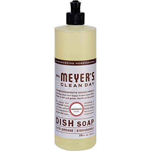 Mrs. Meyer'S Popular popular Denver Mall Dish Soap Liq 6-Packs Fz Lavender 16