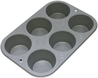 OvenStuff Non-Stick 6 Cup Jumbo Muffin Pan - American-Made, Non-Stick Baking Pans, Easy to Clean and Perfect for Making Jumbo Muffins or Mini Cakes