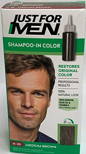 JUST FOR MEN Hair Color Medium Brown 35, 1 ea (Pack of 2)