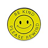 Be Kind Please Rewind Smiling Face Enamel Pin- 1 Pin