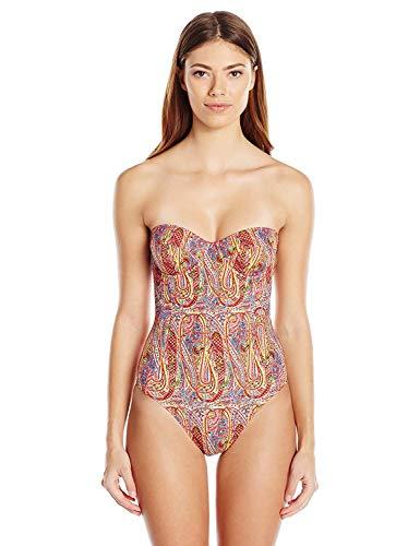 Echo Design Women's Paisley Underwire Slimming One Piece Swimsuit, Multi, 8