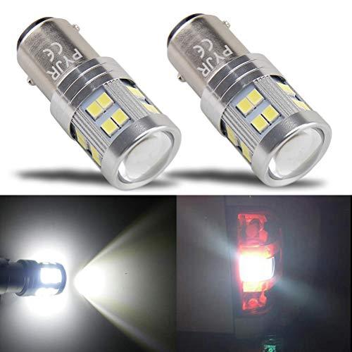 bay15d 1157 P21/5w Lampadina led , PYJR DC10-30V Ampia tensione, luce bianca con Proiettore, per luci di posizione, luce dei freni, fanali posteriori, confezione da 2 Pezzi