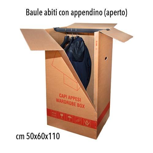 Simba Paper Design Kit 3 Scatole Cartone Porta Abiti Capi Appesi cm. 50x60 H 111con appendino + 1 Nastro Adesivo Omaggio