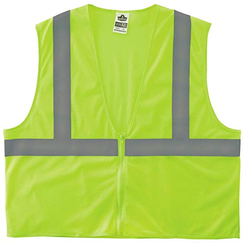 Ergodyne GloWear® 8205Z Type R Class 2 Super Econo Mesh Vest, Lime, 2XL/3XL