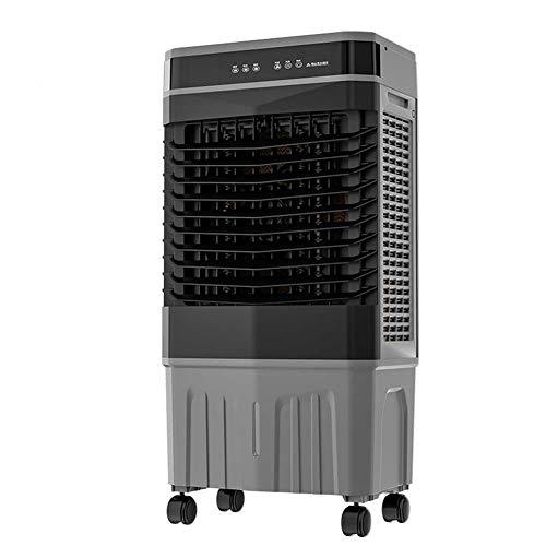 Ventilador de Aire Acondicionado Industrial 50L, Refrigeración del hogar Enfriador de Aire, 9 Fan SENTIRSE con OSCILLACIÓN, TIEMPA DE 12H, Control Remoto