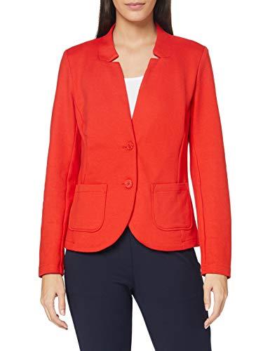 TOM TAILOR Damen Ottoman Blazer, 11025-Strong Red, L