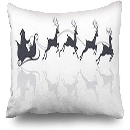 Kussenslopen Santa Claus silhouet paardrijden slee hertjes feestdagen gewei decoratieve kussenslopen Home Decor kussen kussenslopen