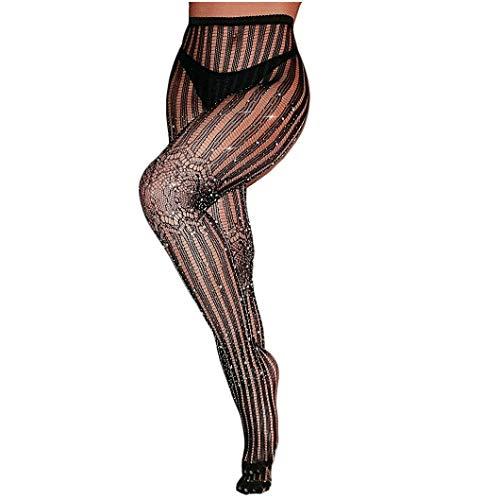 Damen Transparent Strapsstrümpfe mit Strumpfband Erotische Strapsgürtel Strümpfe und Strümpfen Perspektive Schwarz Spitze Strapsen Gürtel Strumpfhose Ouvert Sexy Dessous Halterlose Netzstrümpfe