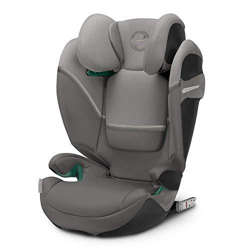 CYBEX Gold Kinder-Autositz Solution S i-Fix, Für Autos mit und ohne ISOFIX, 100 - 150 cm, Ab ca. 3 bis ca. 12 Jahre, Soho Grey