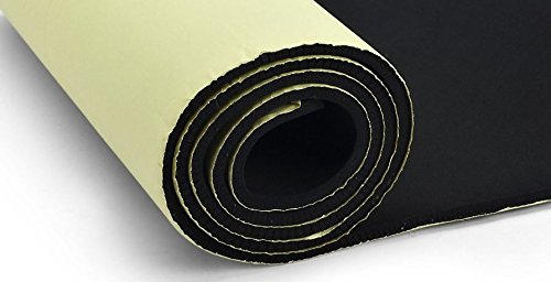 Primode Sponge Neoprene Roll, with Adhesive Bottom, for Multi Purpose Use, 1/8 Thick X 14 Wide X 58 Long