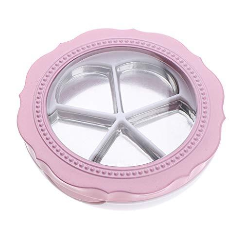 Homyl Pot Vide Forme de Rose Rechargeable à Poudre Cosmétique Baume à Lèvres Outil de Maquillage pour Voyage pour Femme Fille - Rose blanc