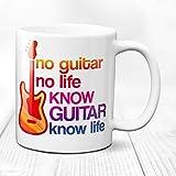 Tazza da caffè, tazza per chitarra e chitarra elettrica, con citazione per chitarra, citazione per chitarra, chitarra e chitarra
