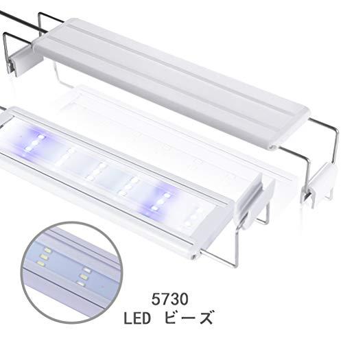 LEDGLE 水槽ライト ledアクアリウムライト 10W 39個LED 50〜60cm対応 熱帯魚/観賞魚飼育・水草育成・水槽照明用 省エネ 長寿命 (39LED灯)