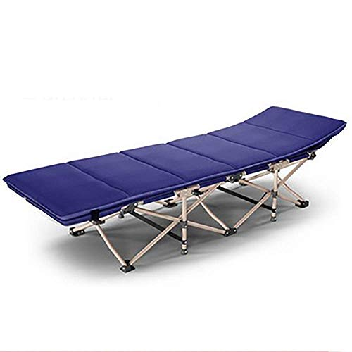 DSHUJC sun lounger Folding Bed Single Bed Office Sleeping Lounge Chair Outdoor Camping Beach Chair Simple Accompanying Bed, Load 200kg, Length 190cm