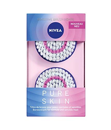 NIVEA Pure Skin Sensitive Bürstenkopf für elektrische Gesichtsreinigungsbürste, 1 x 2st