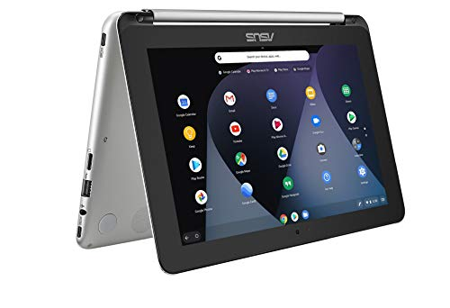 ASUS C101PA-FS002 10.1 Inch Touchscreen Chromebook Flip - (Silver) (OP1 Processor, 4GB RAM, 16GB eMMC, 10.1 360-Degree Rotatable Touchscreen, Chrome OS)