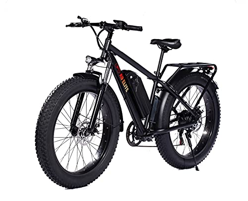AB Elite 26 Inch Fat Tire Electric Bike 48V 17.5AH 1000W Motor Snow Electric Bicycle with Shimano...