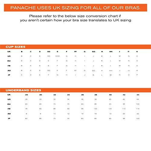 Panache womens Underwired Sports Bra , Black , 34GG