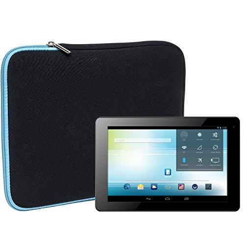 Slabo Tablet Tasche Schutzhülle für Odys Ieos Quad Hülle Etui Hülle Phablet aus Neopren – TÜRKIS/SCHWARZ