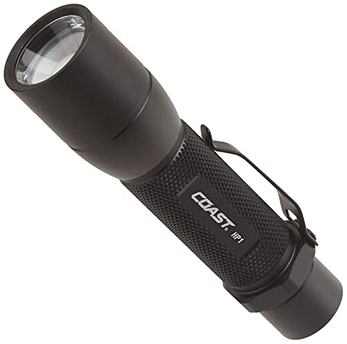 Coast HP1 190 Lumen Pure Beam Focusing LED Flashlight, black