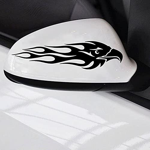 2X Tribal Hawk Flames Vinyl Graphics Motorbike Car A Pair Handsome and Cool Stickers