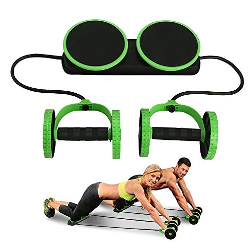 Darhoo Ab Roller Wheel - Ab Wheel Exercise Fitness Equipment - New Upgrade 5-in-1 Multi-Functional Core Ab Workout Abdominal Wheel Machine - Ab Roller Home Gym Equipment for Both Men & Women - Green