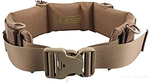 H World Shopping Tactical Molle Waist Padded Patrol Battle Belt Military Hunting CB (Large)